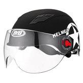 Motorradhelm Half Open Face Helm Verstellbar Fünfzackiger Stern Schwarz