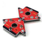2 pièces / pack flèche pince de soudage magnétique NdFeB support de soudage magnétique pour le soudage tridimensionnel de petite taille