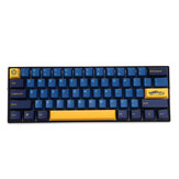 MechZone 109 touches Blue Yellow Keycap Set OEM Profile PBT Keycaps pour 61/68/87/104/108 Keys Claviers mécaniques