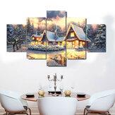 5 Panel Art Leinwand Weihnachtsdekor Interieur No Frame Home Decoration Wandbilder Wohnzimmer Wand Home Decor Supplies