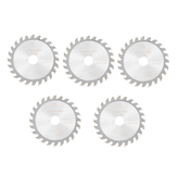 Drillpro 5pcs 85mm Saw Blade 24 Teeth 15mm Bore Circular Cutting Disc Woodworking Tool