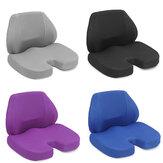 Travesseiro de apoio lombar com espuma de memória e apoio para as costas Travesseiro encosto para cadeira de escritório assento de carro