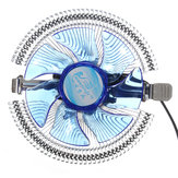 Quiet Blue LED CPU Koeler Koelventilator Koellichaam voor Intel LGA775 1155/1156 i3 / i5 / i7 AM2 AM3