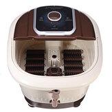 Masajeador de baño de spa de pies eléctrico Soaker Rolling Heat Bubble Vibration con 12 Rodillo