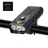 XANES® LV-F004 3/5xT6 3000Lumens Bike Headlight USB Rechargeable MTB Bicycle LED Front Lamp 4 Modes Waterproof Flashlight Power Bank