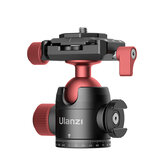 Ulanzi U-70 Creative Metal Dual Cold Shoe Tripod Ball Head with Quick Release Plate for DSLR Camera