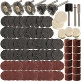 Conjunto de brocas de acessório para ferramenta rotativa 150pcs Acessórios de polimento de esmerilhamento para Dremel