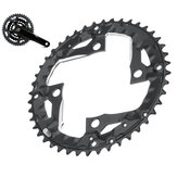 BIKIGHT 44T 9-speed Bike Tooth Disc Chainring Plate Bicycle Chain Ring Chainring for 370 390 430 590 SLX XT