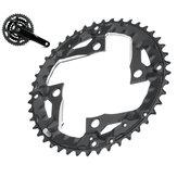 BIKIGHT 44T 9 velocidades Disco de dente de bicicleta Placa de anel de bicicleta Anel de corrente de bicicleta Anel de corrente para 370 390 430 590 SLX XT