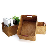 Seaweed Woven Storage Basket Fruit Sundries Home Organizer Fruit Container