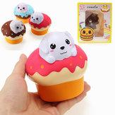 Xinda Squishy Dog Puppy Puff Cake 10cm Powolny wzrost z opakowaniem Kolekcja Gift Soft Toy