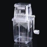 Portable Manual Ice Shaver Block Shaving Machine Crusher Snow Ice Cone Maker Transparent