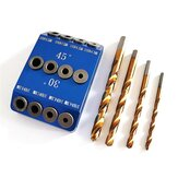 30/45/90 Degrees Oblique Hole Puncher Multi-Angle Vertical Plank Drill Pocket Hole Jig