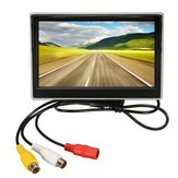 5 Inch LCD Monitor Mirror and Wireless IR Reverse Car Rear View Back up Camera Kit