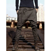 Mens Harem Pants Baggy Slacks Trousers Sportwear Casual Jogger Pants