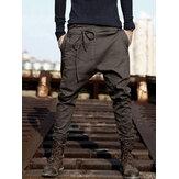 Erkek Harem Pantolon Baggy Pantolon Pantolon Sportwear Casual Jogger Slacks Pantolon
