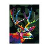 Ölgemälde nach Nummer Satz Colorful Sika Deer Gemälde DIY Acrylpigment Gemälde nach Zahlen Set Hand Craft Art Supplies Home Office Dekor