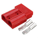 Excellway 50A 8AWG Battery Quick Connector Plug Connect Terminal Disconnect Winch Trailer Red