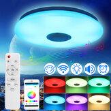 Kısılabilir 36W 220V LED Akıllı Tavan Aydınlatması Tavan Lamba Bluetooth Hoparlör APP Uzakdan Kumanda