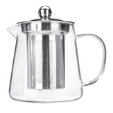 Glass Teapot Heat Resistant Clear Jug Dengan Infuser Coffee Tea Pot 450/550 / 750ML