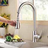 Kitchen Pull-Out Faucet Tap Mixer Spout Finish Brushed Swivel Spray 360° Swivel