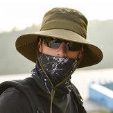 Erkek Katlanabilir Nefes Kova Şapka Dize Ile Outdoor Balıkçılık Şapka Tırmanma Güneşlik Caps