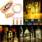 Battery Powered 150CM Outdoor LED Cork Shaped Starry Light Wine Bottle Holiday Lamp for Xmas