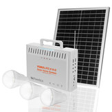 20W 18V Solar Panel RV Boat Power Storage Generator z 3 LED Light USB Charger System