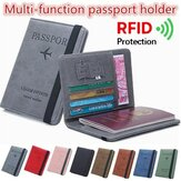 RFID Blocking Travel Multifunctional Card Slots Passport Storage Bag Wallet