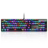 MOTOSPEED Inflictor CK104 NKRO RGB Backlit Keyboard Gaming Mekanik Tombol Biru