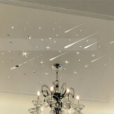 Star Meteor Acrylic Mirror Wall Home Decal Art Room Ceiling Vinyl Stickers Home House Wall Sticker