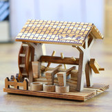 Wooden Crafts Hand Waterwheel Furniture Office Decorations