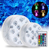 Swimming Pool Light LED Undervands fjernbetjening RGB Control Multi Color Fountain Light