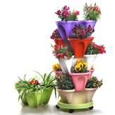 Multi-Layer Three-Dimensional Flower Strawberry Basin Superimposed Cultivation Pot for Vegetable Fruit Planting Grow