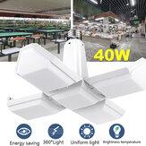 AC85-265V E27 40W Katlanır Dört Yapraklı LED Lamba Ev Deformasyon Üniforma Ampul İç Aydınlatma