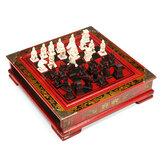 Jogo de mesa chinês do tabuleiro de xadrez de madeira do vintage conjunto de peças de brinquedo de presente colecionáveis
