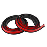 2PCS 1.5M×2CM Rubber Car Mudguard Trim Strip Wheel Arch Protection Moldings Black