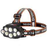 XANES® 4-Modes 8*XPG LED Headlamp USB Rechargeable Long Shoot Camping Head Light 18650 Fishing Lantern Waterproof Head Torch Flashlight