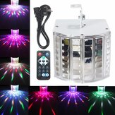18W LED RGB Sound Actived DMX512 Strobe Effect Stage ضوء DJ Disco Bar Party