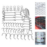 50 Stück Pegboard Display Hooks Sortiment Satz Store Organizing Tools