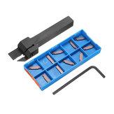 MGEHR 1212-1.5 Porte-outil de rainurage 12x12x100mm avec 10pcs MGMN150-G 1.5mm Carbide Inserts