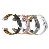 ساعة باكي 18 ملم جلد اصلي بديلة حزام حزام لساعة فيت بيت شارج 3 الذكية