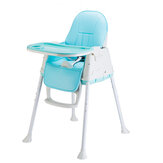 Portable Folding Children Kids Highchair Adjustable Bady Toddler Chair Safe Eating Dining Feeding Seat With Wheel Cushion
