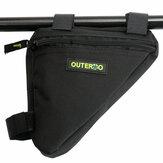 OUTERDO Bike Front Frame Bag Nylon Triangle Bag Bicycle Waterproof Storage Bag for MTB Bike Road Bike