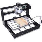 Versão offline 3018 PRO Roteador CNC de 3 eixos GRBL Controle DIY Velocidade ajustável Fuso Motor Máquina de gravação de madeira Fresadora Controlador offline XYZ Área de trabalho 300x180x45mm