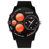Fashion Casual Men Digital Watch 5ATM Waterproof Luminous Week Date Display Stopwatch Dual Display Watch