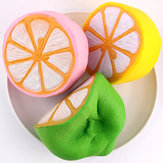 SanQi Elan Squishy Jumbo Lemon 11cm Slow Rising Original Packaging Fruit Collection Decor Gift Toy