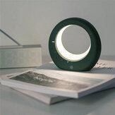 Lampe de Table en forme de lune Mini LED réveil numérique électronique veilleuse multifonction pour cadeaux d'anniversaire de chambre de chevet