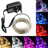 20M LED Silver Wire Fairy String Light Christmas Festa di nozze lampada 12V