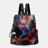 Women Printed Nylon Anti-theft Backpack Shoulder Bag